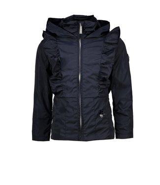 Le Chic Donkerblauwe jas met ruffles