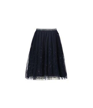Le Chic Donkerblauwe rok met parels