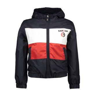 Le Chic Garçon Donkerblauwe/rode jas