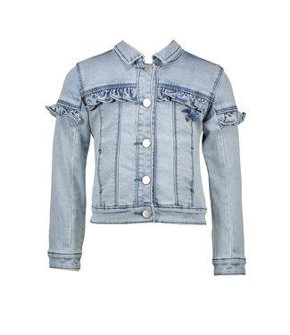 Le Chic Jeans vest met ruffle