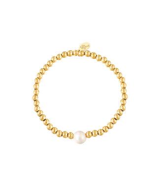 Bracelet Big Pearl - Gold