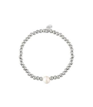 Bracelet Big Pearl - Silver
