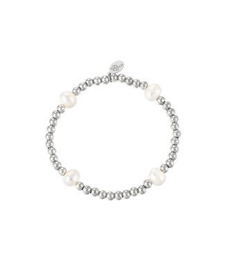 Bracelet Big Pearl Mix - Silver
