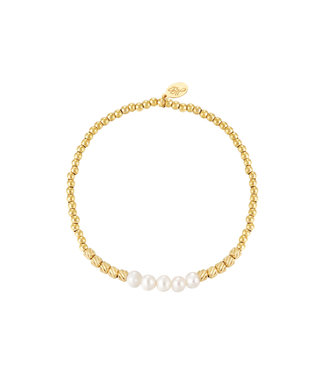Bracelet Pearl Beads - Gold