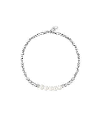 Bracelet Pearl Beads - Silver