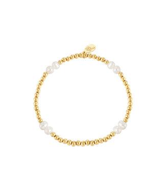 Bracelet Pearl Mix - Gold