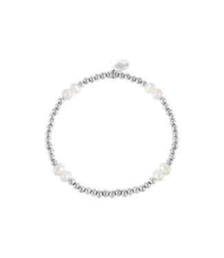 Bracelet Pearl Mix - Silver