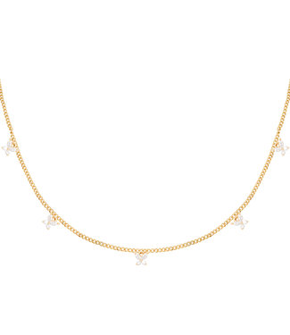 Necklace Shiny Butterfly - Gold