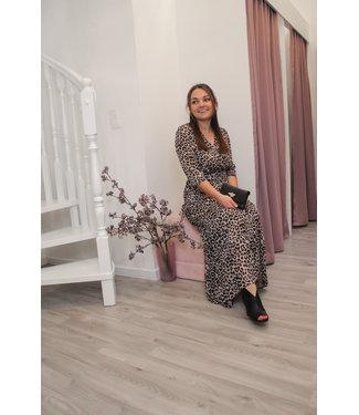 Maxi tijgerprint jurk
