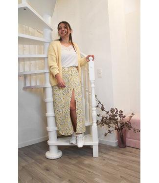 Maxi gele bloemen rok