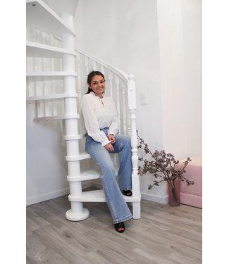 Witte boho blouse
