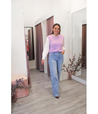 Mid waist wide leg jeans