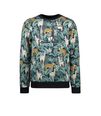 Leaf sweater AO jungle print