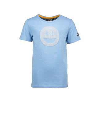 Like Flo Light Blue jersey tee smiley