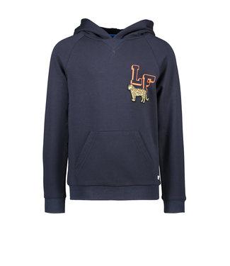 Navy hooded sweater LF leopard