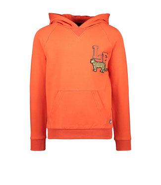 Orange hooded sweater LF leopard