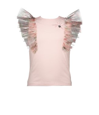 Le Chic Roze t-shirt met tulle