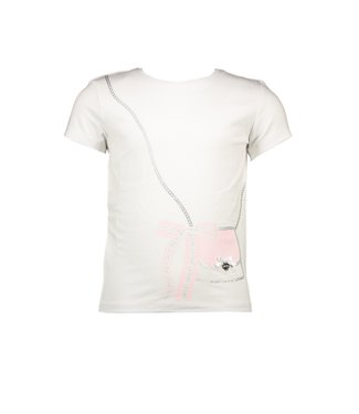 Le Chic Witte Bag & bow t-shirt