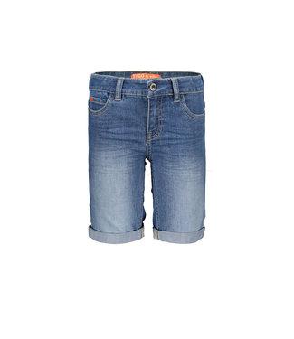 Blue denim stretch short