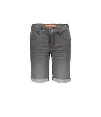 Grey denim stretch short