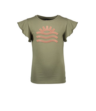 Like Flo Army jersey t-shirt with ruffles