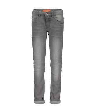 Grey denim skinny stretch jeans