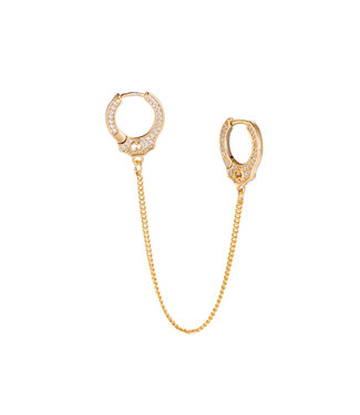 Handcuff Gold Plated Earring - Gold