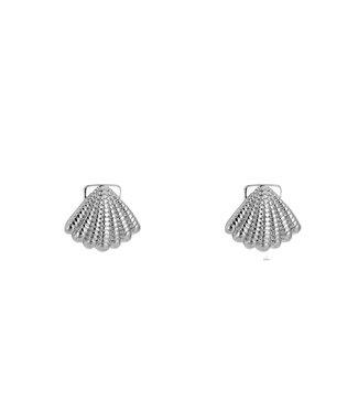 Simple Shell Earstud - Zilver