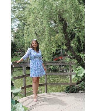 Jessica mini jurk - Blauw