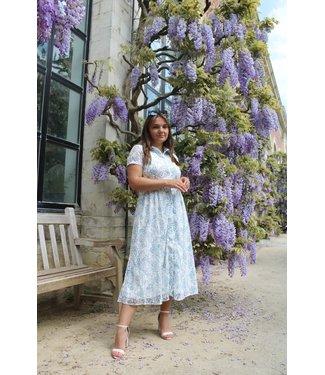 Isabella maxi jurk - blauw