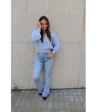 Capri flared jeans - blauw