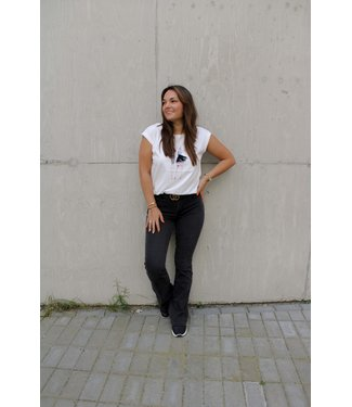 Capri flared jeans - grijs