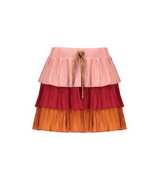 Nik layered skirt with plissé