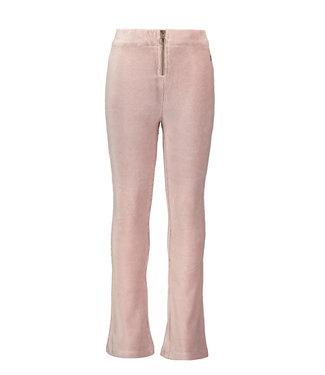Ruby velvet flared pants - Pink