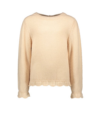 Apricot knitted ajour sweater