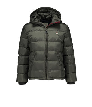 Quilted jacket with shoulder yoke - Grey