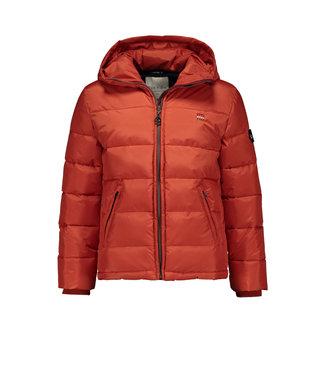 Quilted jacket with shoulder yoke - Orange