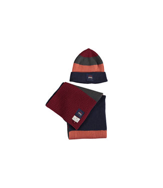 Knitted hat and scarf - Multi