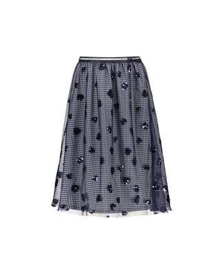 Thalia pied de poule maxi skirt