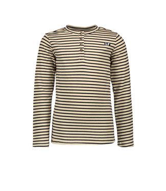 Navy button henley t-shirt