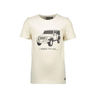 Off white slub jersey t-shirt
