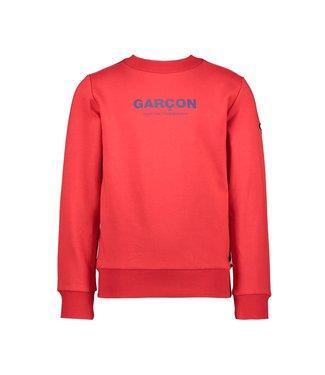 Oliver garçon print sweater - Red