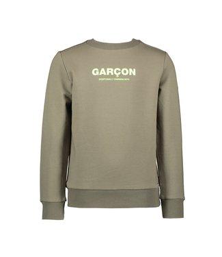 Oliver garçon print sweater - Green