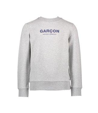 Oliver garçon print sweater - Grey