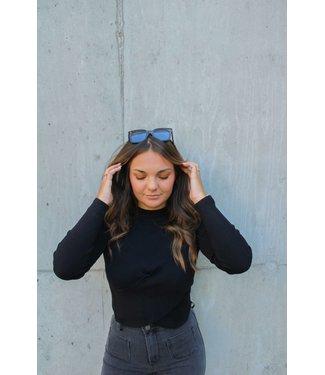 Gina top - zwart