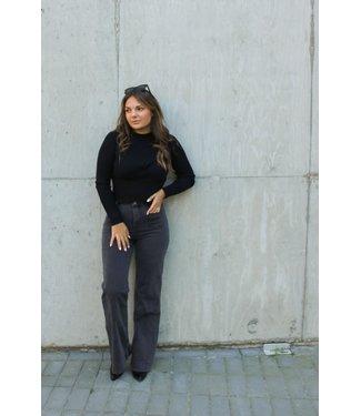 Gigi wide leg jeans - Donkergrijs
