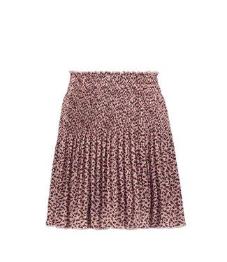 Woven crepe plissé skirt