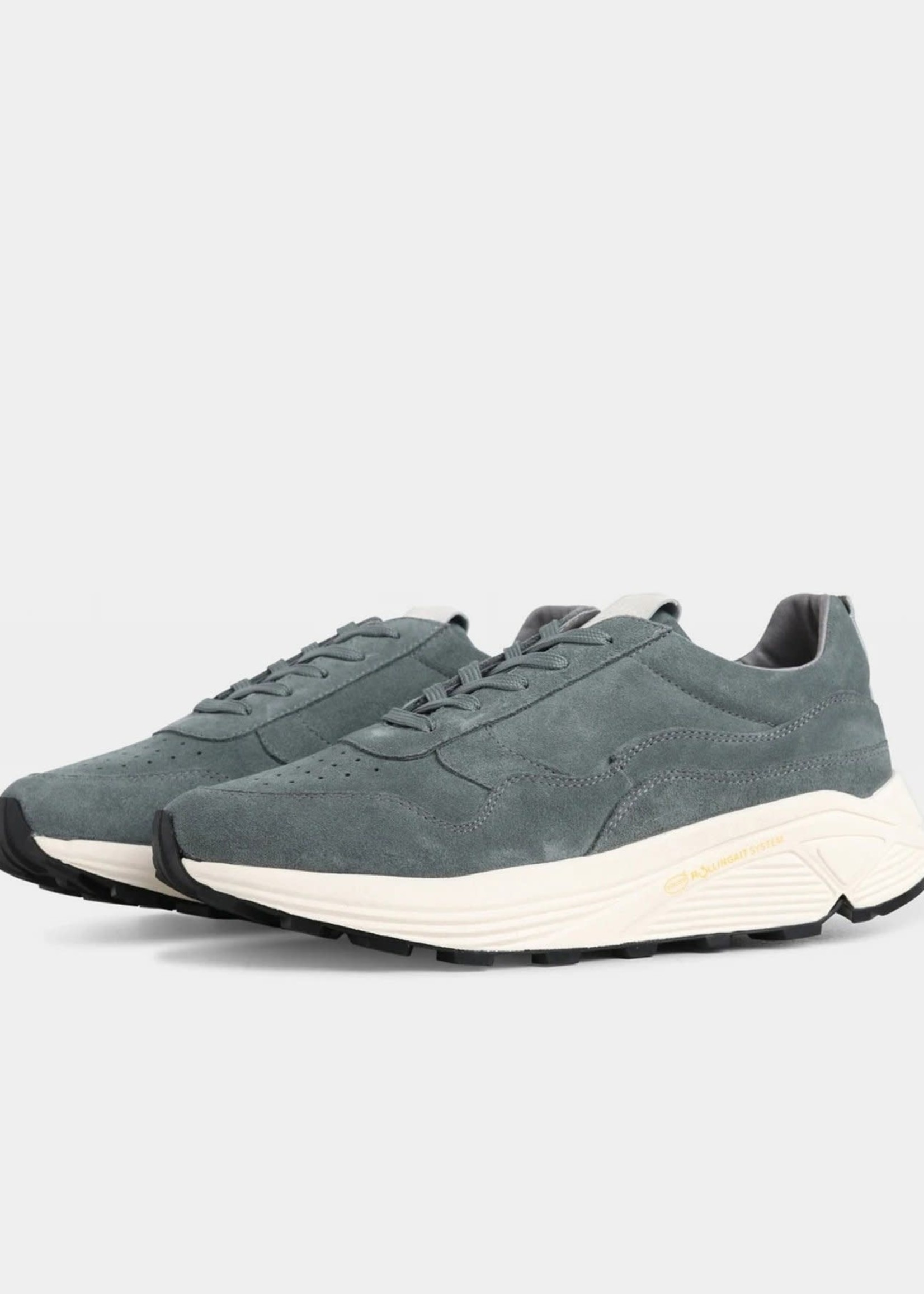 Garment Project Bailey Runner - Conifer Suede / Off White