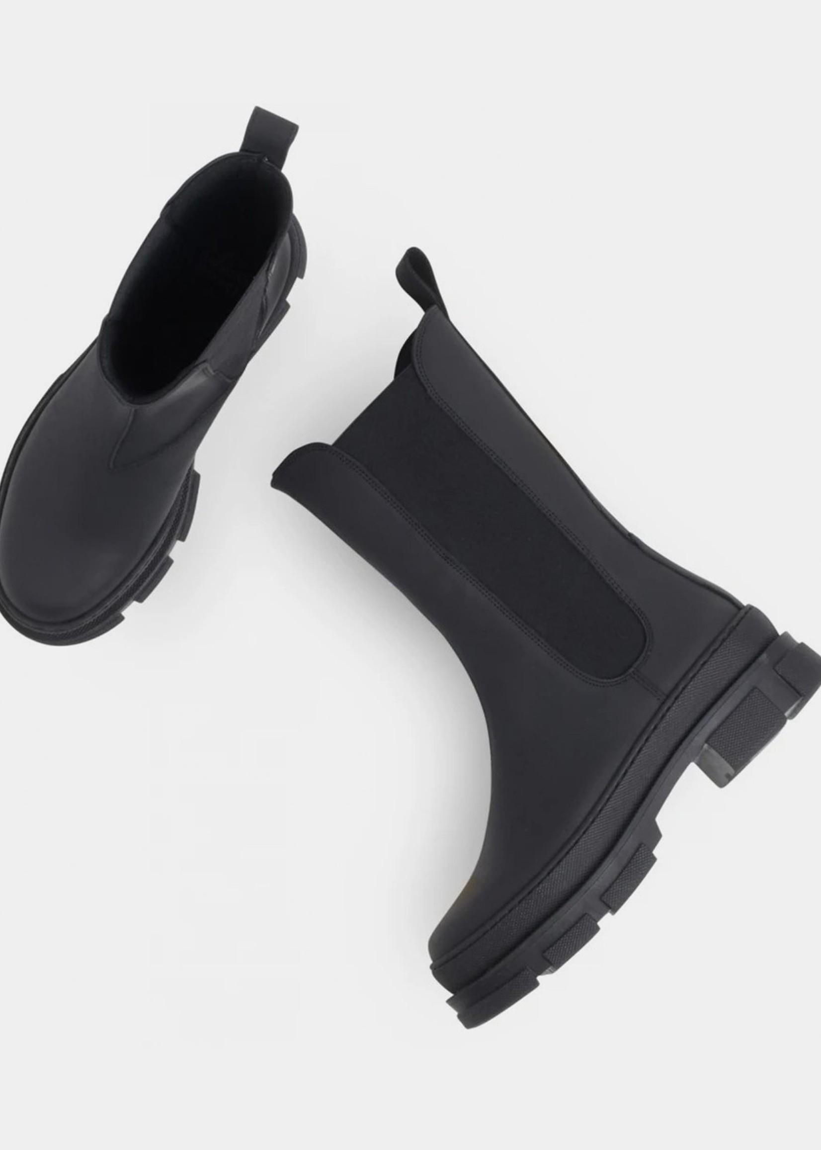 Garment Project Elise Chelsea - Black Rubberised Leather