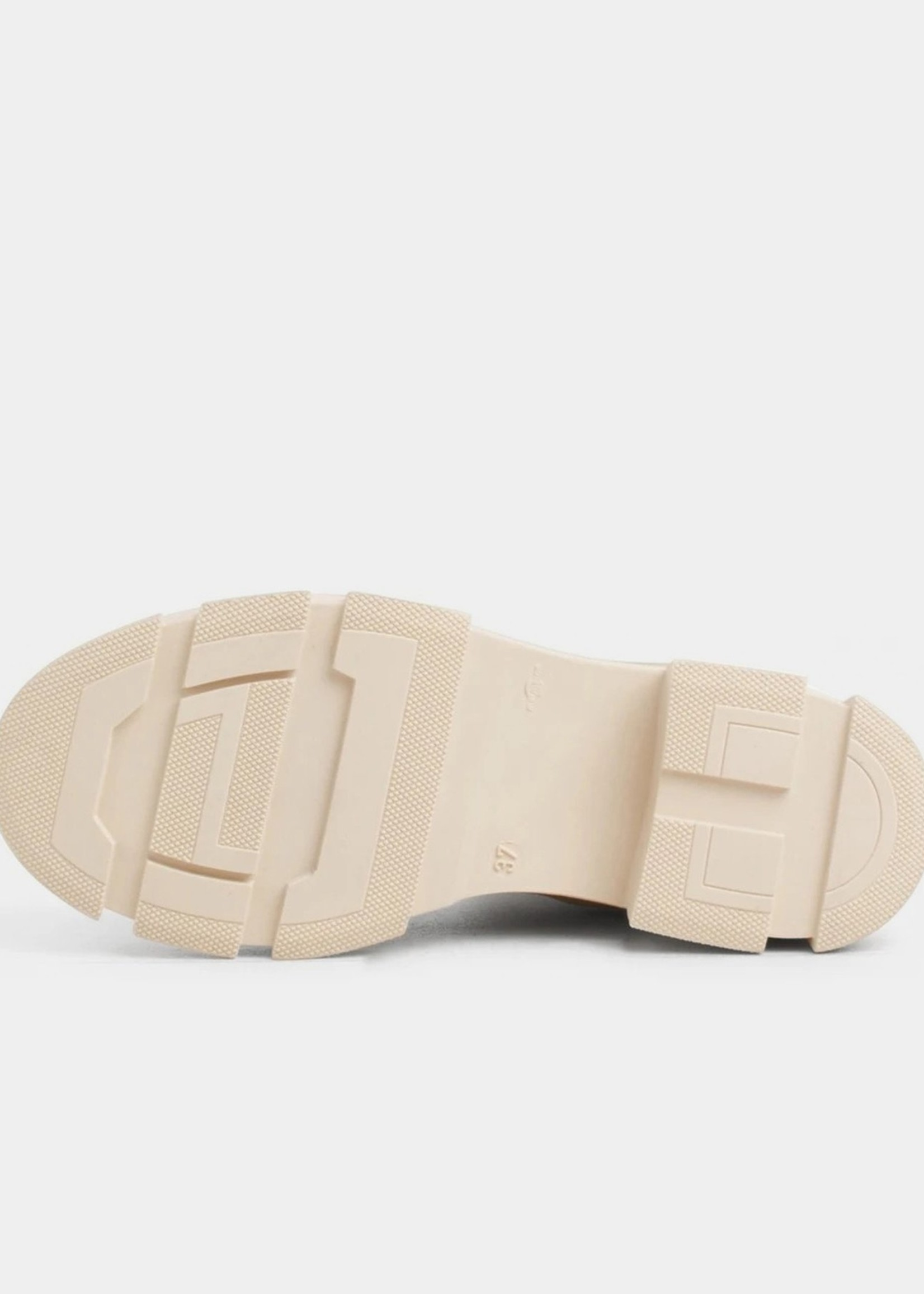 Garment Project Elise Chelsea - Off White Rubberised Leather